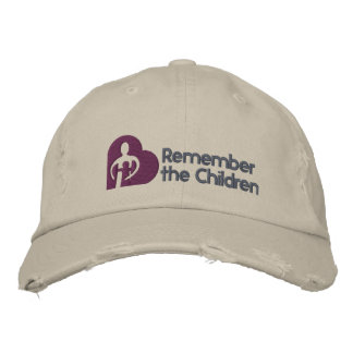 Minns den grundläggande hatten för barn broderad keps