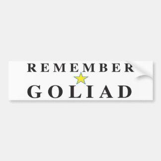 Minns Goliad Bildekal