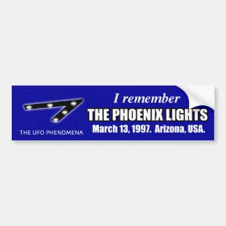 Minns ljusbildekalet för UFO Phoenix Bildekal