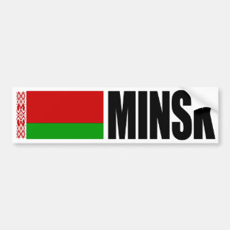 Minsk Vitryssland flagga Bildekal