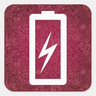 Minsta Eco batterier Fyrkantigt Klistermärke