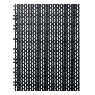 """Minsta geometriskt mönster - Japan """"vinternatt """", Anteckningsbok Med Spiral"""