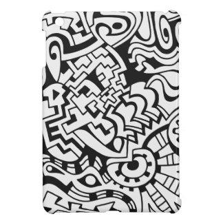 Minsta konst för svartvita grafitti iPad mini fodral
