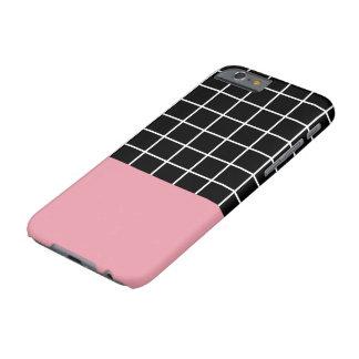 Minsta raster B&W med rosafärgkvarteret Barely There iPhone 6 Skal