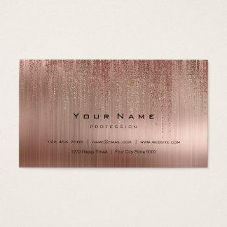 Minsta stålsätta förkopprar den rosa guld- visitkort