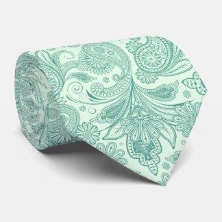 Mint-Grönt tonar vintage utsmyckade Paisley Slips