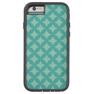 Mint- och AquaGeocircle design Tough Xtreme iPhone 6 Fodral