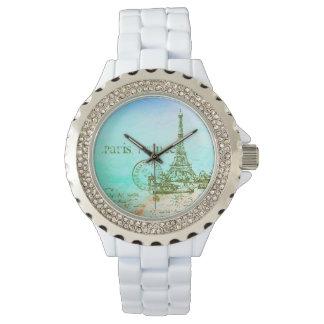 Mint- och för gröntpastellImpressionist Paris Armbandsur