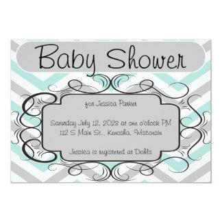 Mint och inbjudningar för gråttsparrebaby shower