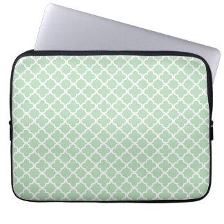 Mint Quatrefoil Laptopskydd