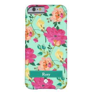 Minted blommigt barely there iPhone 6 skal