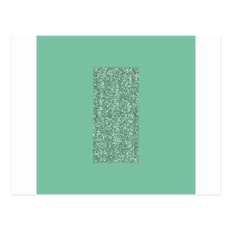 Mintgrönt med fauxglitter vykort
