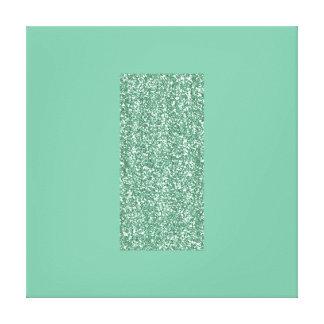 Mintkonsttryck med Fauxglitter på kanfas Canvastryck