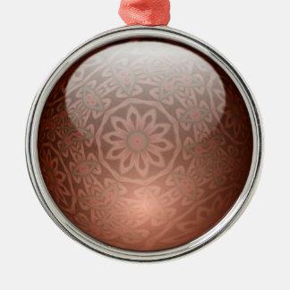 Minty juvelprydnad rund silverfärgad julgransprydnad