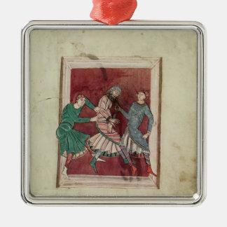 Mirakel av St Omer Silverfärgad Fyrkantigt Julgransprydnad