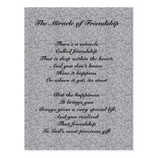 Mirakel av vänskapdiktvykortet vykort