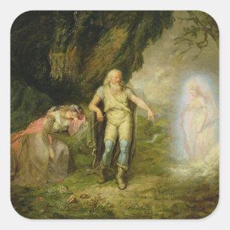 """Miranda, Prospero och Ariel, från """"stormen"""" by Fyrkantigt Klistermärke"""