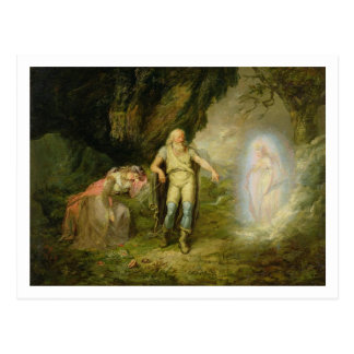 """Miranda, Prospero och Ariel, från """"stormen"""" by Vykort"""
