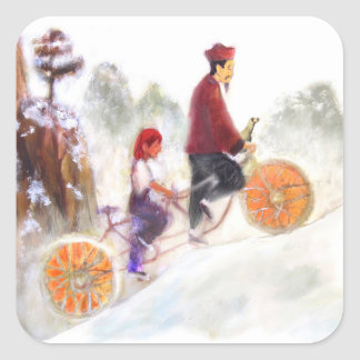 MIRIAM - Liu Xiang's tandem cycle Fyrkantigt Klistermärke