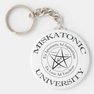 Miskatonic universiteten Keychain Rund Nyckelring