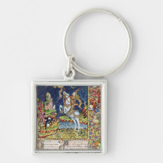 Missal av St George av Topusko Fyrkantig Silverfärgad Nyckelring