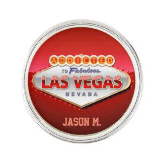 Missbrukat till Las Vegas, undertecknar roliga Kavajnål