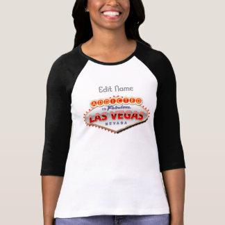 Missbrukat till Las Vegas, undertecknar roliga T-shirts
