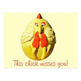 Misses Du för denna chick Vykort