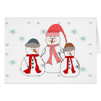 Misses Snögubbe, nyckfull konst för snögubbebarn OBS Kort