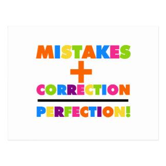 Missförstår positiv korrigeringsjämlikeperfektion vykort