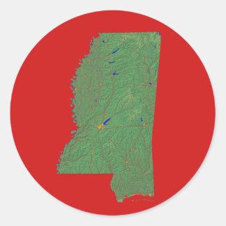 Mississippi kartaklistermärke runt klistermärke