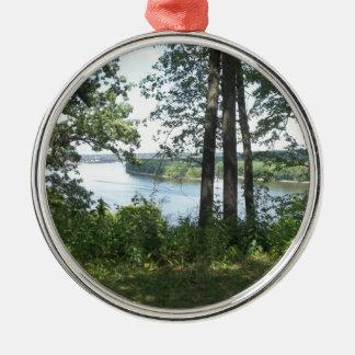 Mississippi River packar ihop Julgransprydnad Metall
