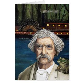 Mississippi Sam Aka Mark Twain Hälsningskort