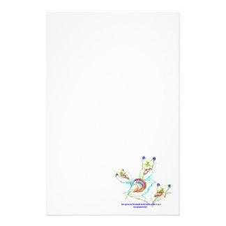 Misslyckas social fjärilscaterpillertecknad brevpapper