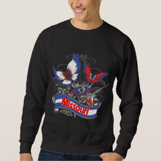Missouri patriotismfjäril lång ärmad tröja