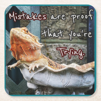 Mistakes är motståndskraftig att du är pröva! underlägg papper kvadrat