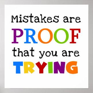 Mistakes är motståndskraftig dig är pröva poster