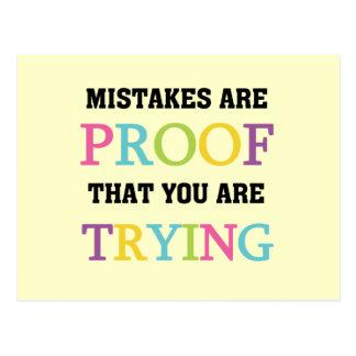 Mistakes är motståndskraftig dig är pröva vykort