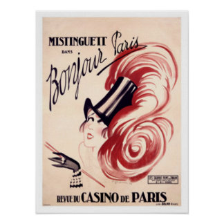 Mistinguett Bonjour Paris Poster