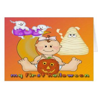 Mitt 1st Halloween hälsningkort