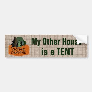 Mitt annat hus är roligt campa för tält bildekal