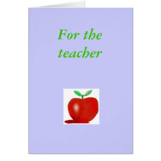 mitt äpple, för lärare hälsningskort