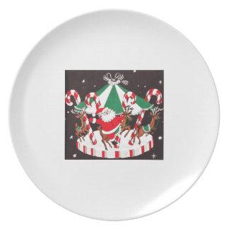 Mitt- århundrade Santa för härlig vintage & ren Tallrik