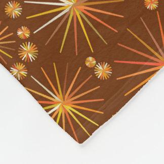 Mitt- århundradeSputnik mönster, choklad - brunt Fleecefilt