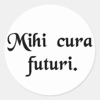 Mitt bekymmer är framtiden runt klistermärke
