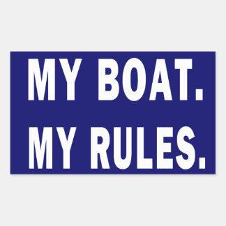 Mitt fartyg. Min regler - rolig rodd Rektangulärt Klistermärke