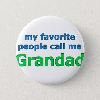 mitt favorit- folk appell mig grandad standard knapp rund 5.7 cm