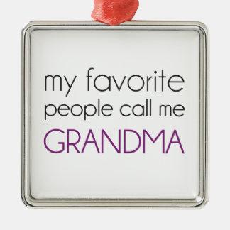 Mitt favorit- folk appell mig mormor julgransprydnad metall