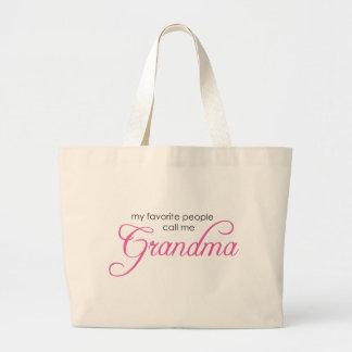 Mitt favorit- folk appell mig mormor jumbo tygkasse