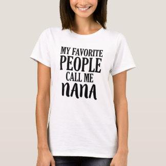 Mitt favorit- folk appell mig nana skjorta tshirts